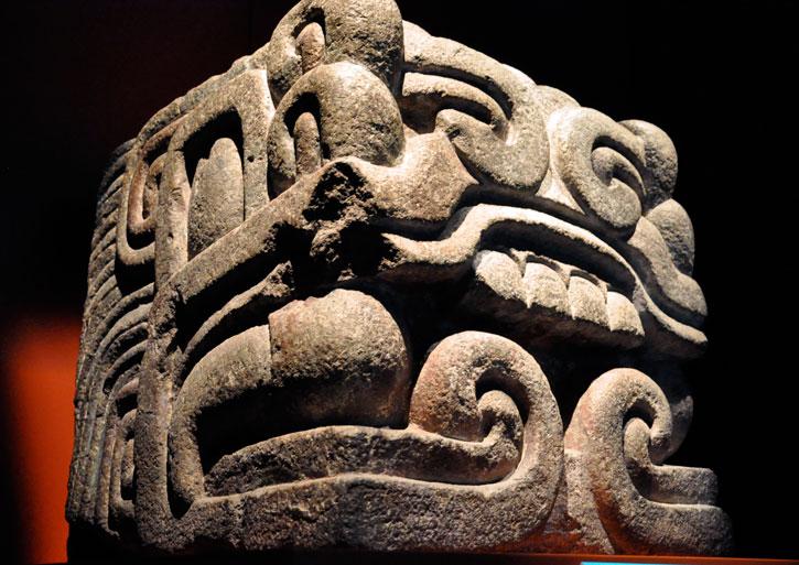 Aztec Serpent Head
