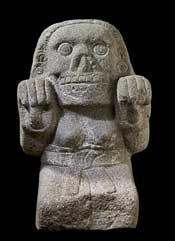 Aztec stone cihuateotl statue