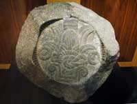 Fragment of an Aztec eagle vessel with the date 2 Reed