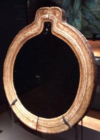 Aztec obsidian mirror, Madrid
