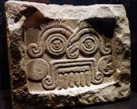 Aztec stone relief dedicated to Tlaloc