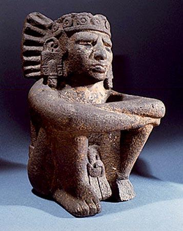 Stone figure of Xiuhtecuhtli Xiuhtecuhtli Aztec God Of Fire